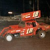 On the track at Cowtown Speedway