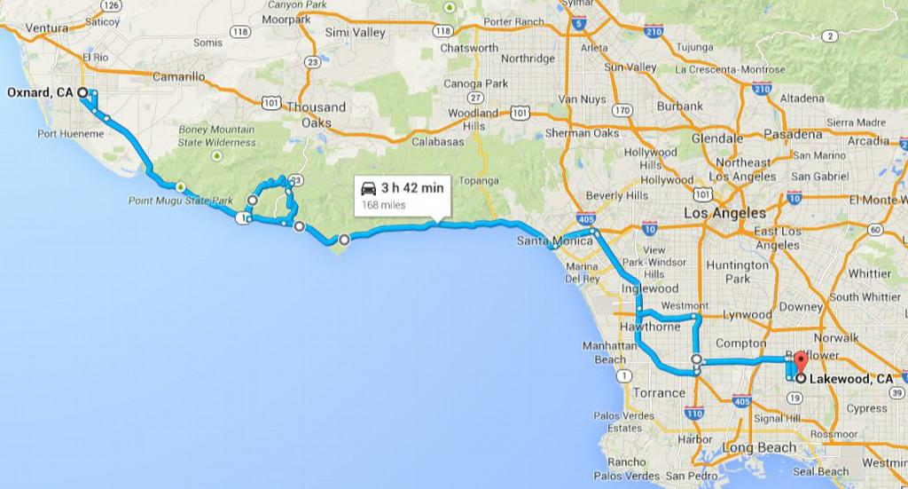 Road trip 2014 - day trip, PCH through Malibu and Mulholland HWY/canyon roads