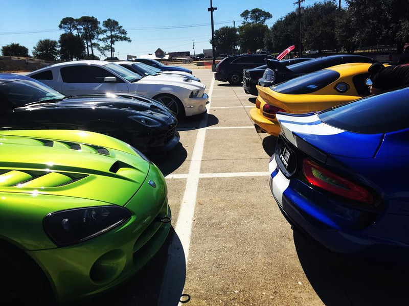 Lunch stop on Dallas Racing cruise, Lewisville TX