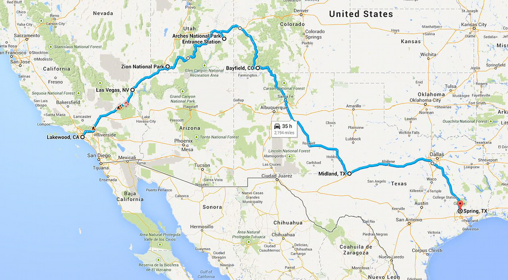Road Trip 2014 - return route