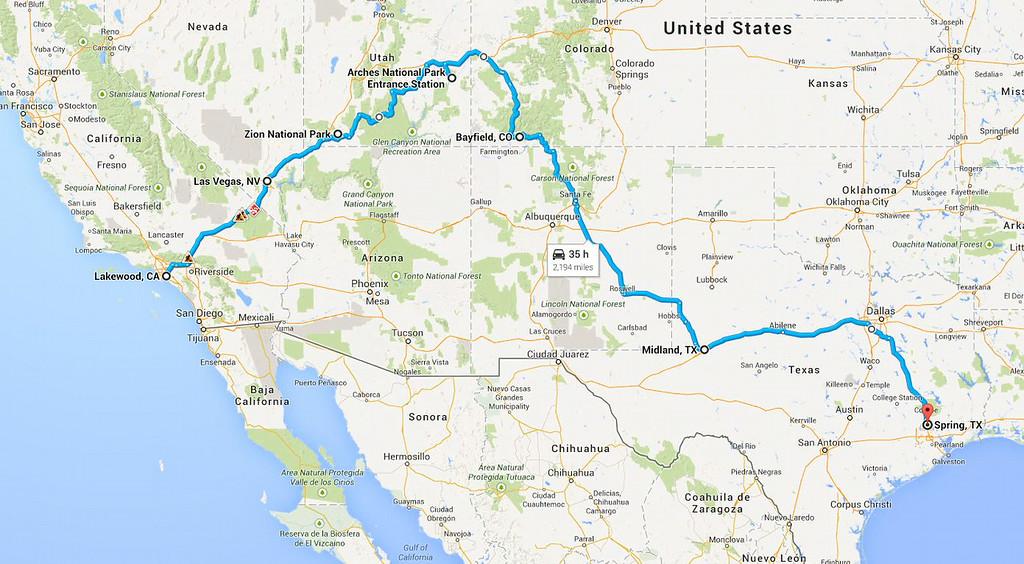 Road Trip 2014 - return route