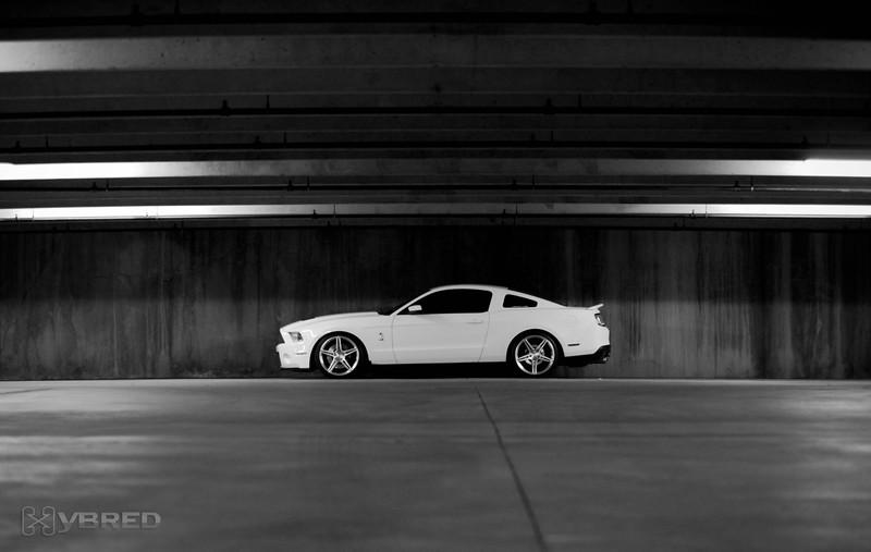 Black and white lightplay, Dallas TX