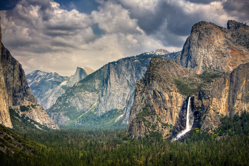Yosemite National Park.  This was captured at the Tunnel View point.  Also my first attempt on HDR.