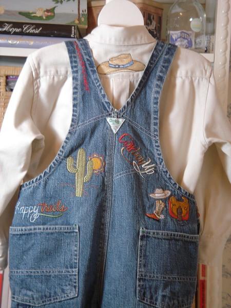 Babu's cowboy overalls and shirt feb 2006 015