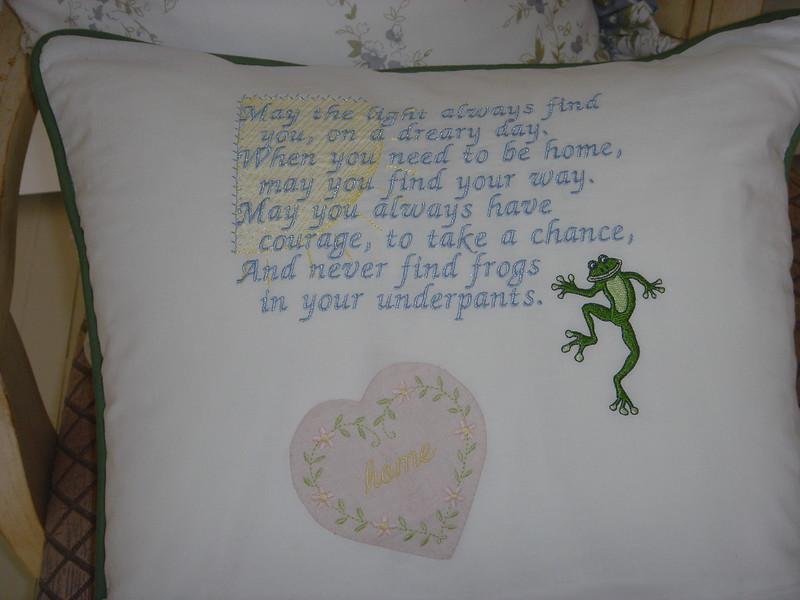 Crazy Quilt pillow back