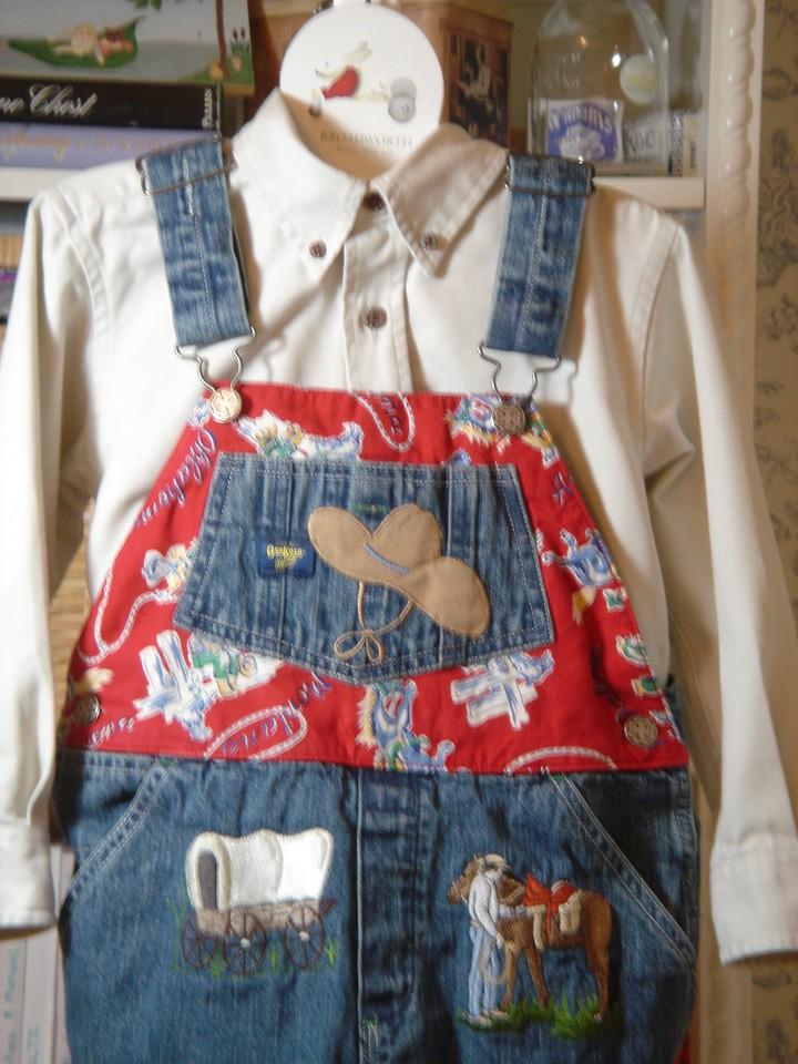 Babu's cowboy overalls and shirt feb 2006