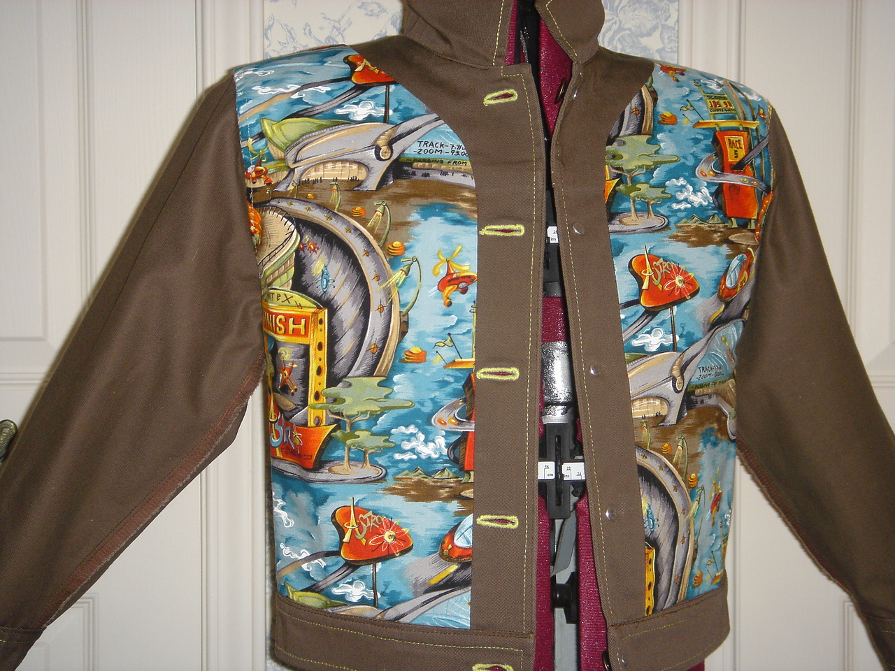 """Buck Rogers"" jacket front lining"