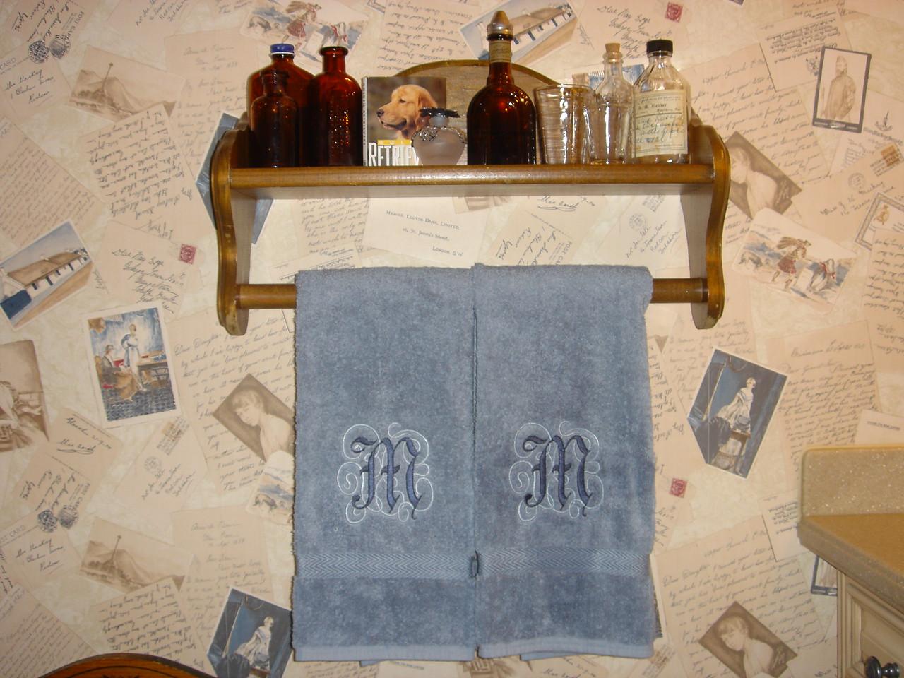 Powder room towels