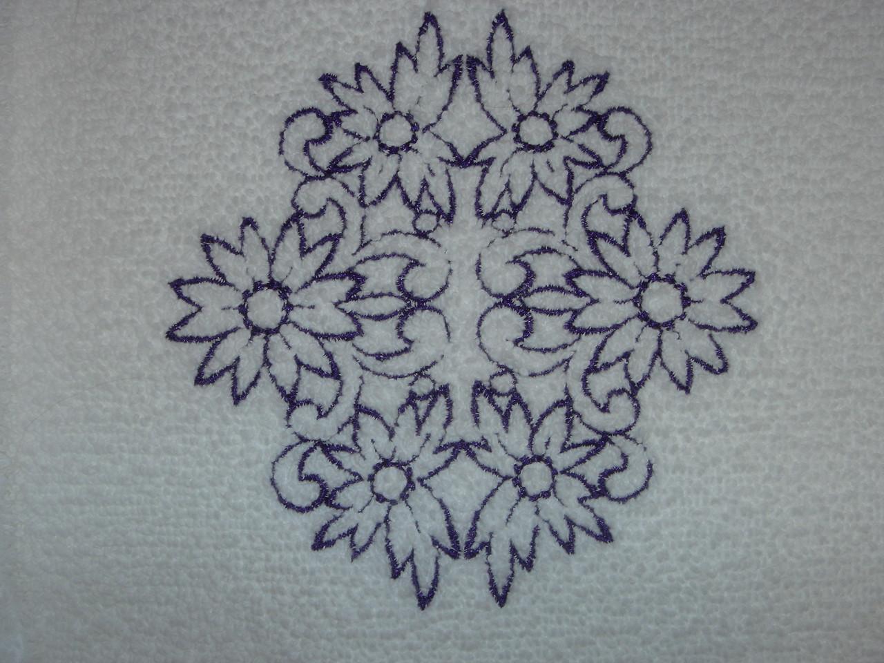 Closeup of tub mat