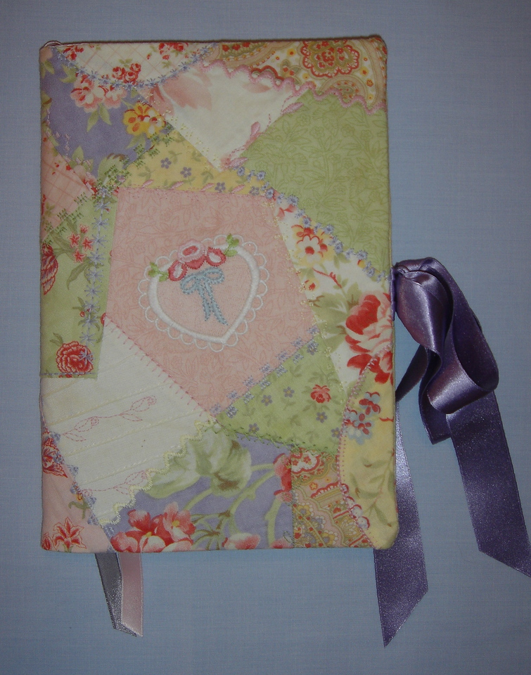 Crazy quilt journal cover