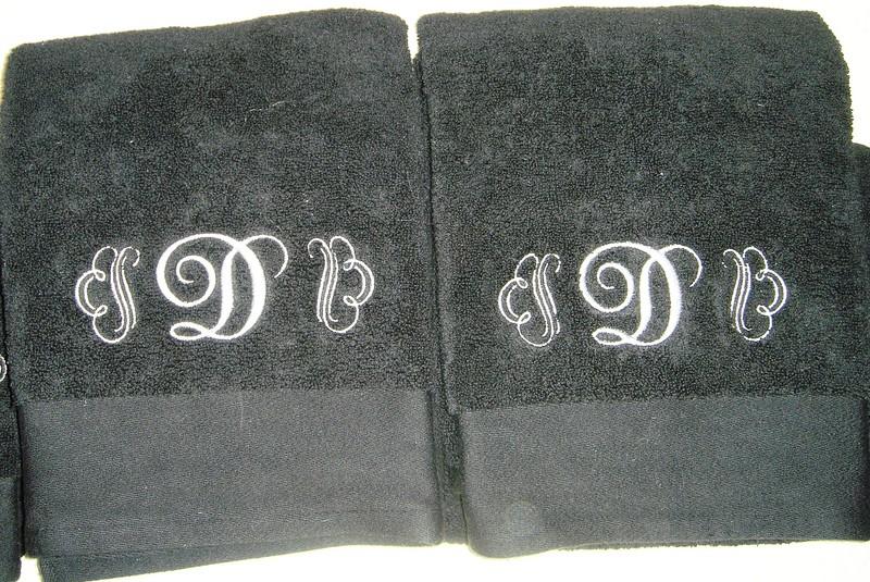 Closeup of towels
