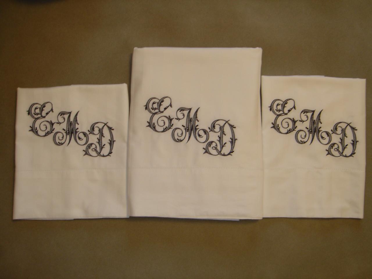Wedding gift: sheet set for Melanie