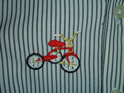 Closeup of design, Spencer's onesie shirt