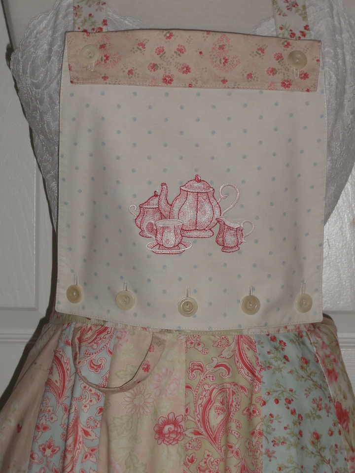 Seaside Rose Tea Apron