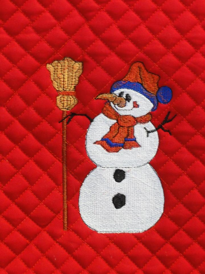 Closeup of snowman