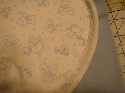 Closeup of coverstitching