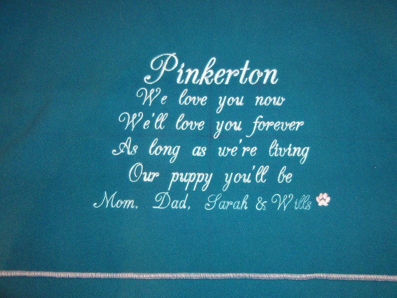 Blanket for Pinkerton