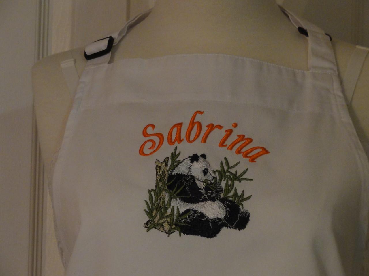 Closeup of Sabrina's apron