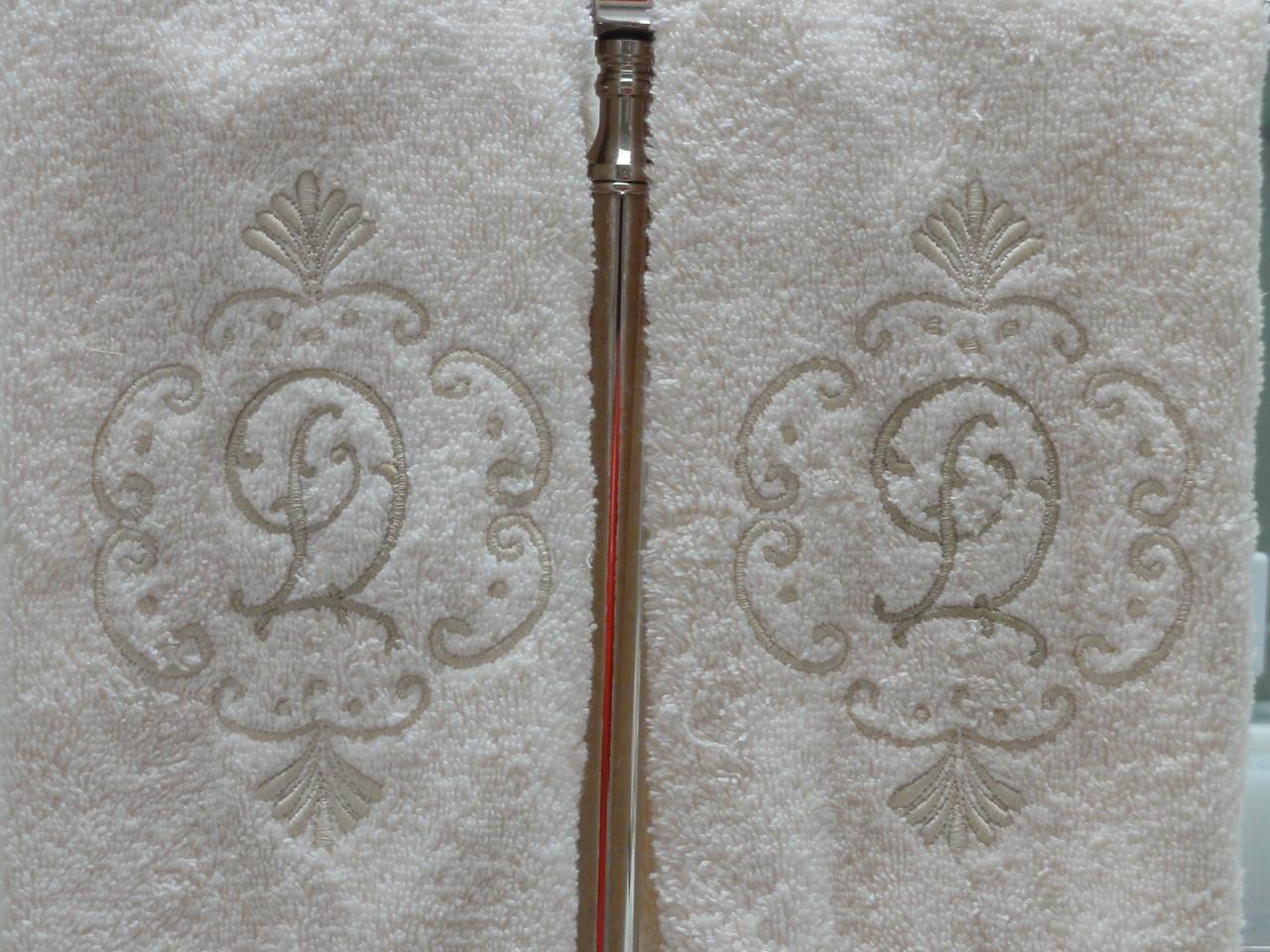 Closeup of monogram