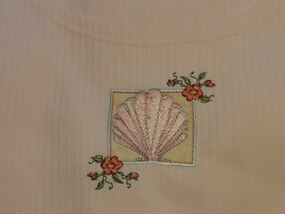 Nightgown for myself; closeup of design