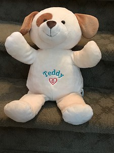 "Embroidered ""Buddy"" doggie for Teddy"