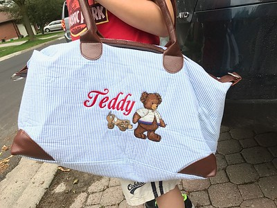 Bag embroidered for Teddy