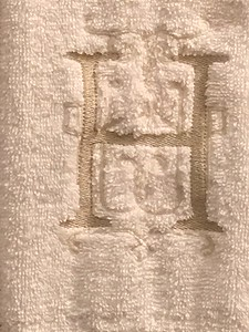 Closeup of monogram