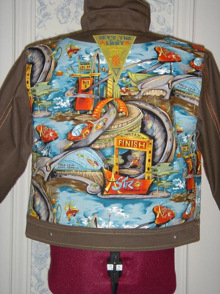 """Buck Rogers"" jacket back lining"