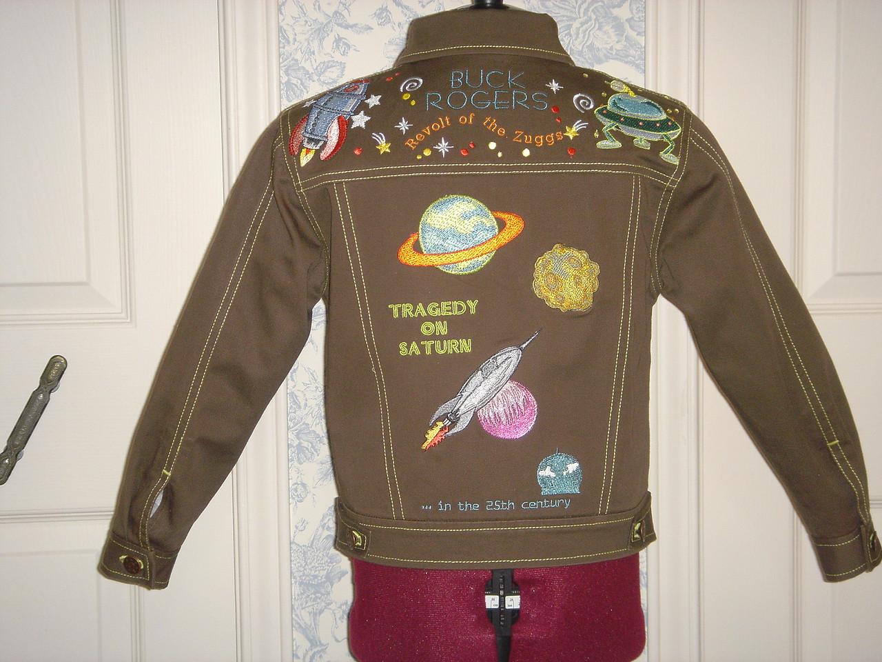 """Buck Rogers"" jacket back"