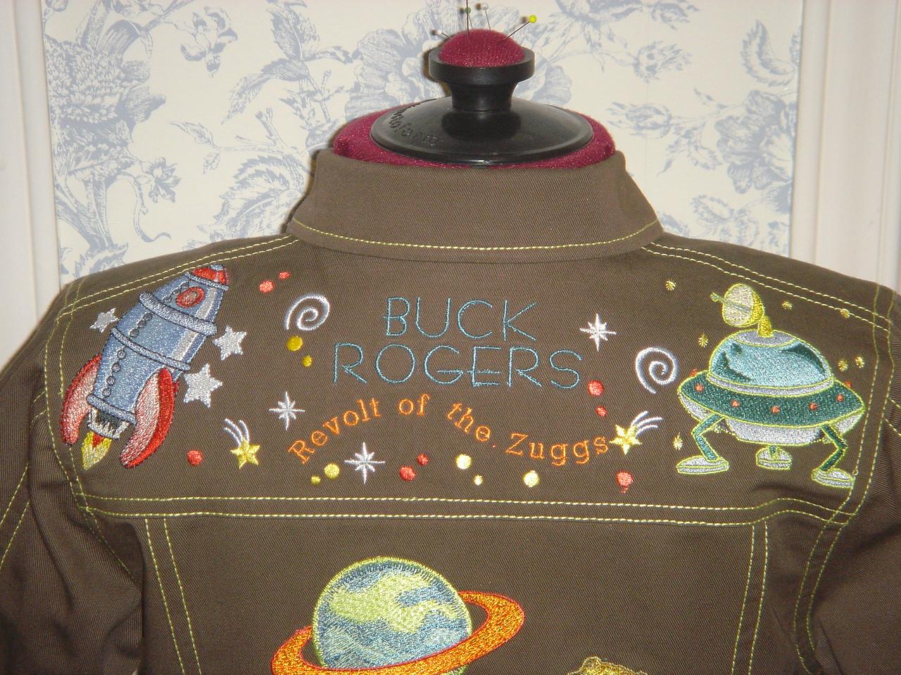 """Buck Rogers"" jacket yoke back"