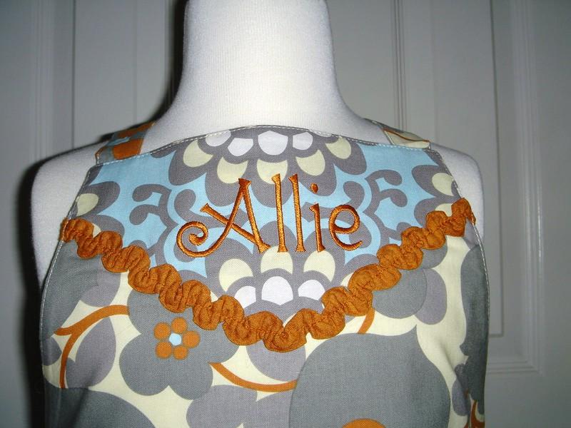 Closeup of apron front