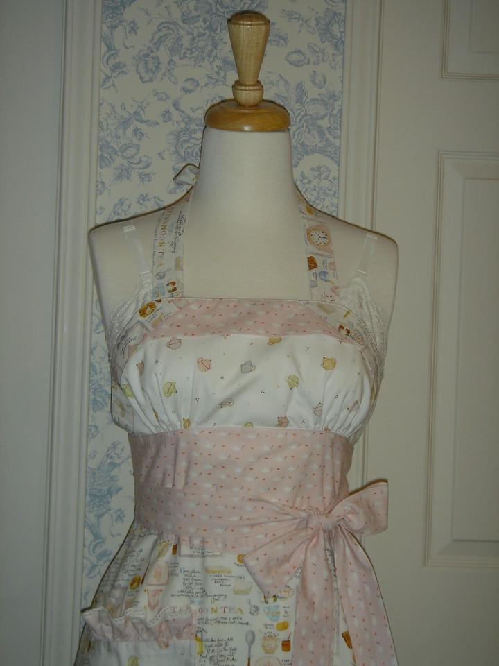 Closeup of apron bodice