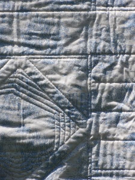 Closeup of backing, quilting