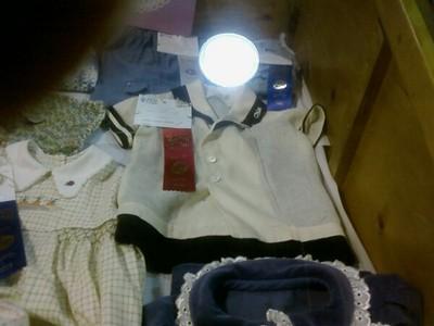 Babu's ecru & linen sailor suit, 1st prize