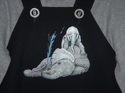 Babu's elephant overalls
