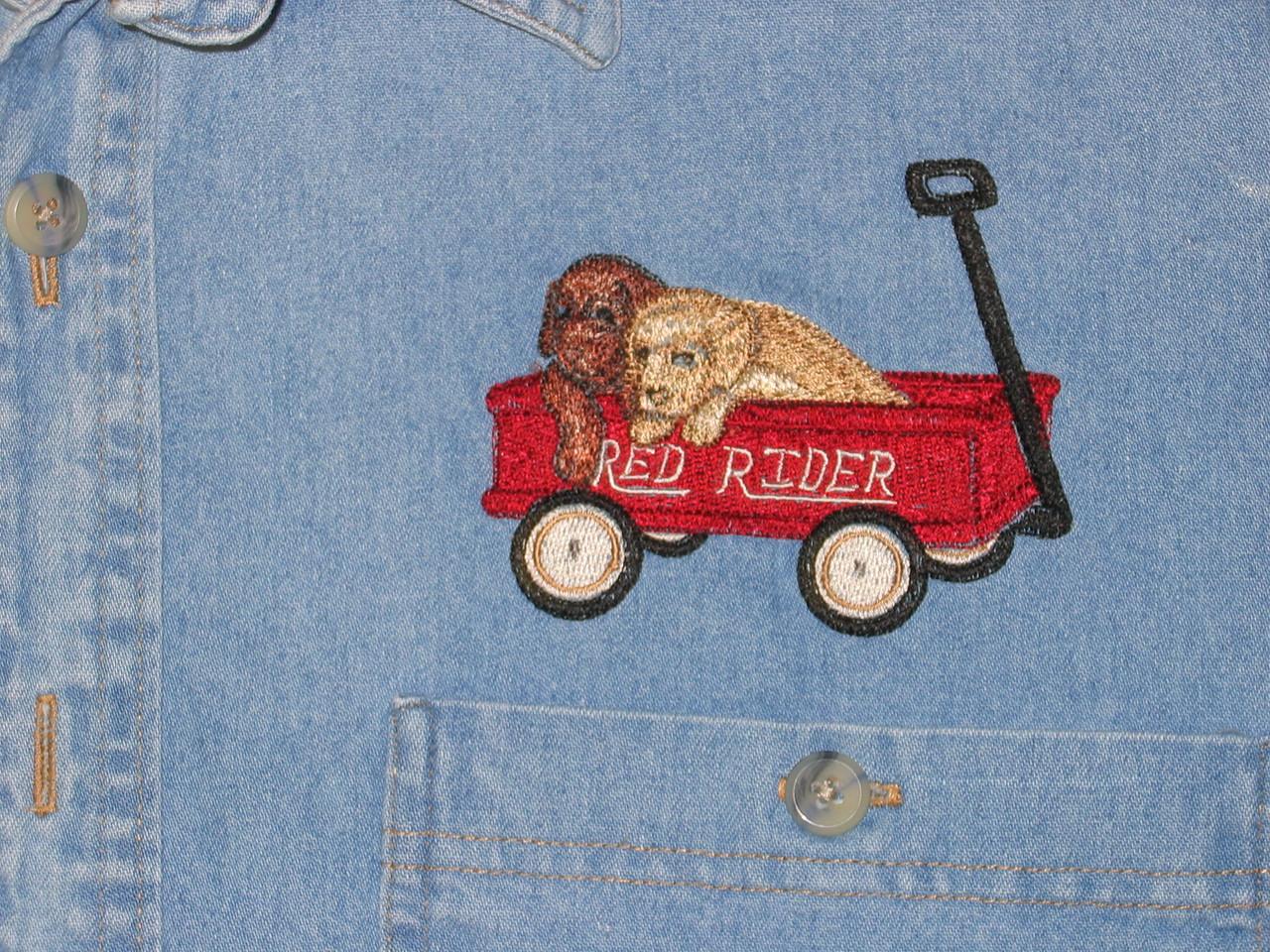 Dogs in wagon dec 03