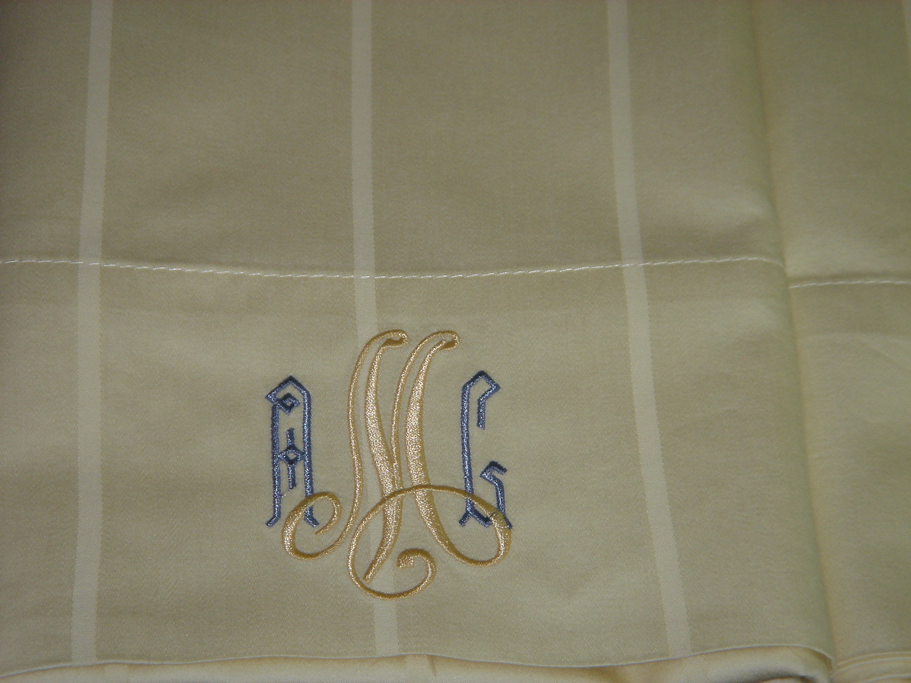 Monogrammed sheets for me!