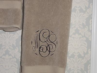 Closeup of bath towel