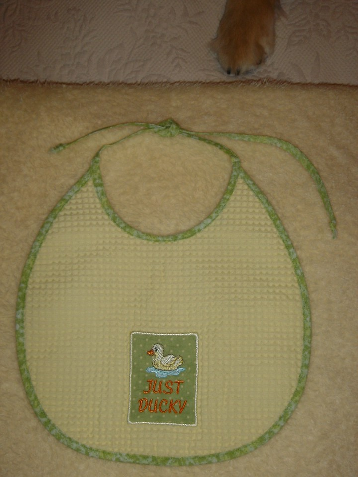 Bib to go with duck set... to follow