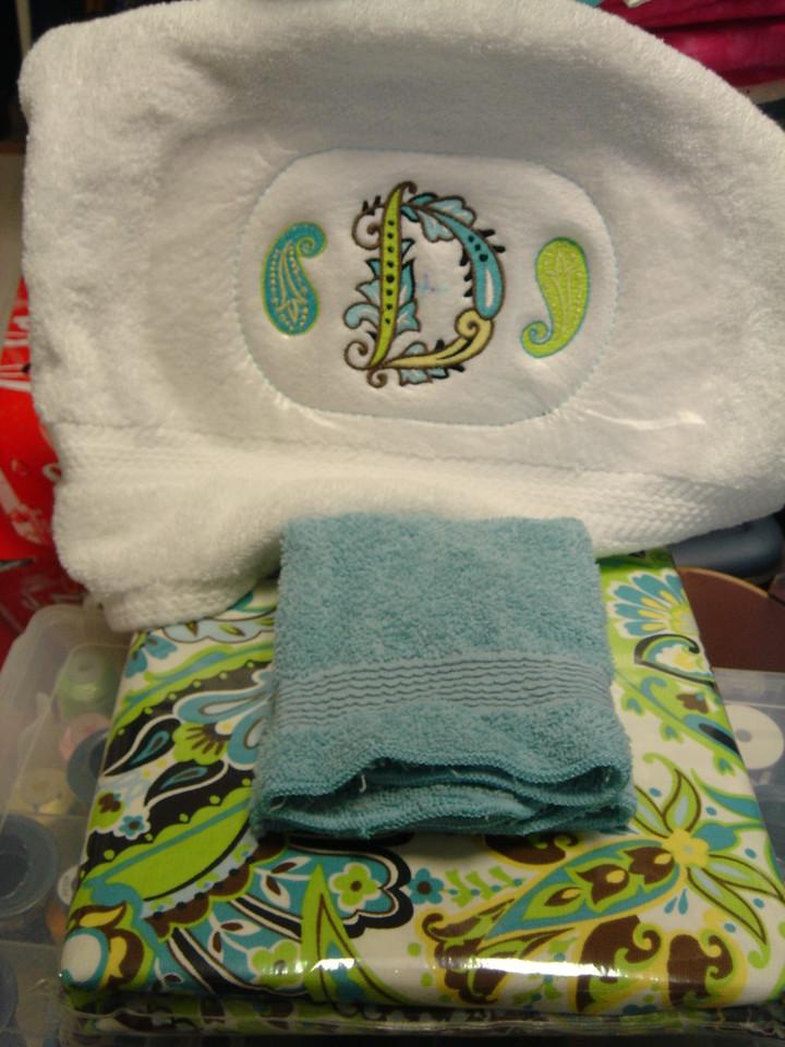 Melanie towels WIP 001