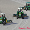 Tractors preparing the race course for races.