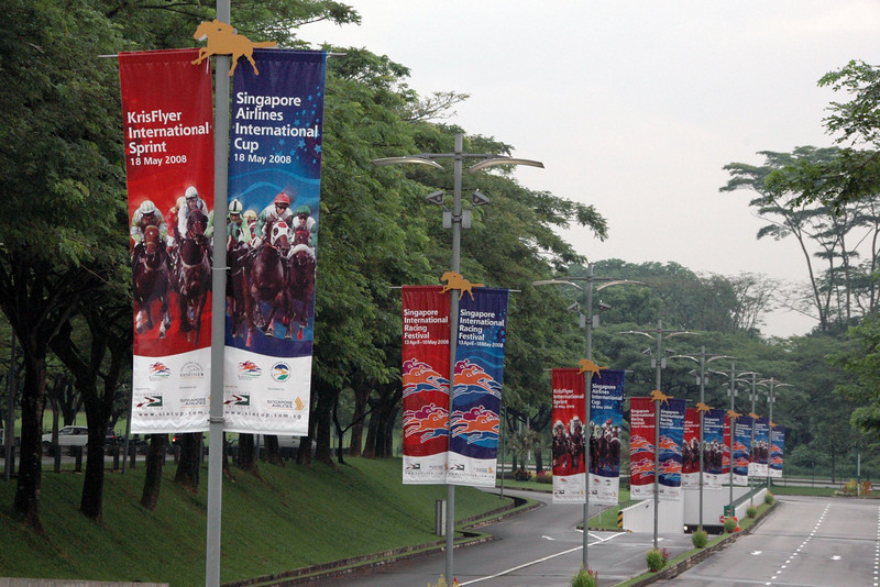 Road leading to the Singapore Turf Club.