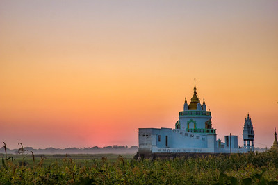 No Clouds in the Sunset in Mandalay, Myanmar