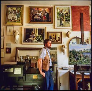 Frank in studio facing the American Museum of Art