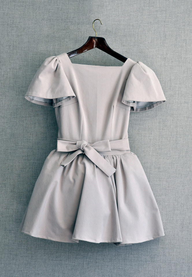 """8.  Pale pink dress with tulle, brush cotton: h. 31""""."""