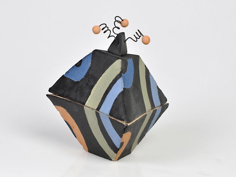 8.  Box, stoneware, handbuilt.