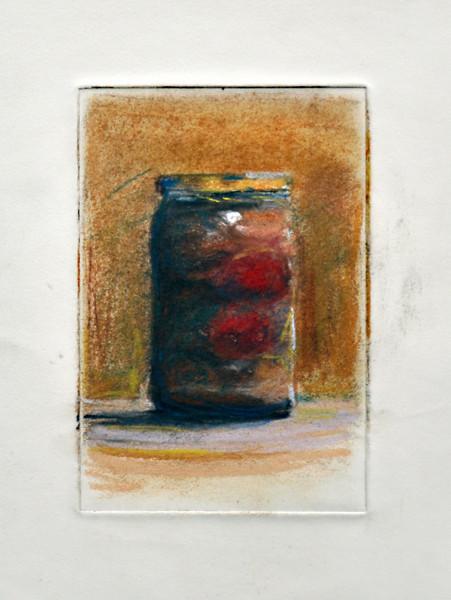 """2.  Pepper Jar, print, pastel: 6 x 4""""."""