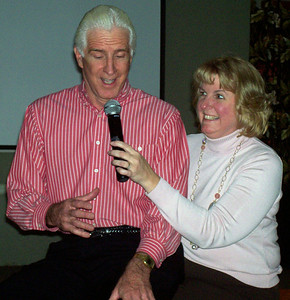 OTCG Talent Show - Kevin as the ventriloquist's dummy.  Jodi is helping?