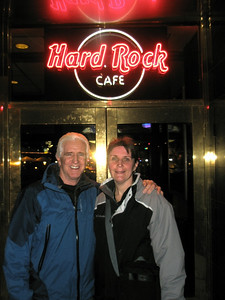 Kevin and Lori, from Boston, at the Hard Rock Cafe.  Feb. 2008
