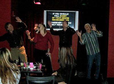 Atlantic City Karaoke jam...Rocker Dave, Joni, Bryan and Kevin  Dec 2007